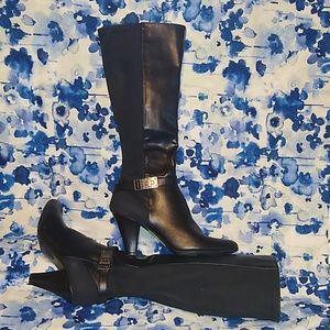 Lifestride Velocity w/Memory Foam Tall Black Boots
